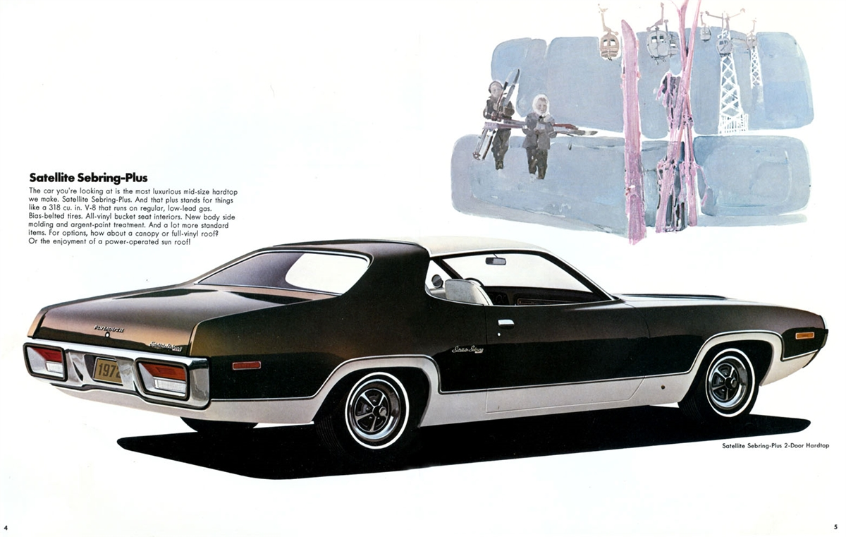 Original Sales Brochure For 1972 Gtx Roadrunner Satellite