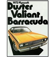 "14-page 8.5""x 11"" showroom sales catalog for all 1972 Plymouth A-Body and E-Body"
