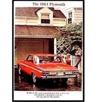 "20-page 9"" x 13"" showroom sales catalog for all 1964 Plymouth B-Body"