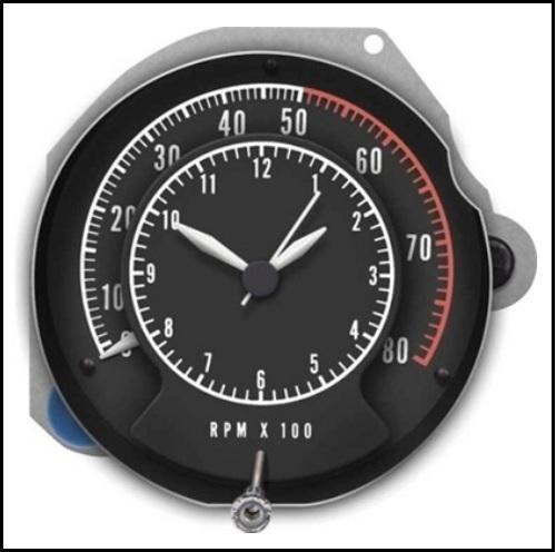 U0026quot Tic Toc Tach U0026quot  Tachometer  Clock For 1968 Rallye Dash