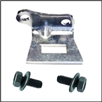 Clutch fork pivot bracket with correct SEMS screws for 1962-65 Plymouth Belvdere; 1962-64 Fury - Savoy - Sport Fury; 1962 Dodge Dart; 1962-64 Polara - 330 - 440 and 1965 Coronet - Satellite