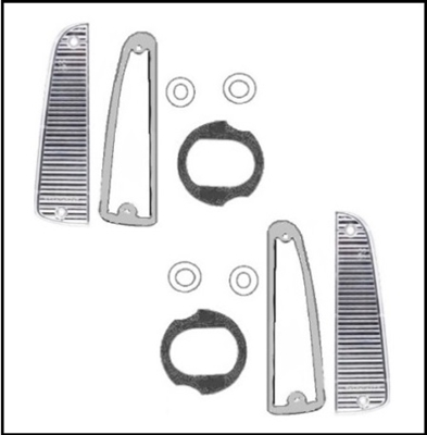 10-piece revers lens and gasket set for 1963-65 Plymouth Belvedere; 1963-64 Fury - Savoy - Sport Fury and 1965 Satellite