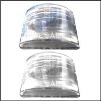 (2) NOS PN 1343364 reverse lamp lenses for so-equipped 1950-52 Dodge Coronet - Meadowbrook - Wayfarer and 1950-52 DeSoto Custom - DeLuxe - FireDome - Powermaster