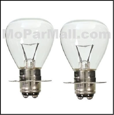 2 Flange Type 6 Volt Head Light Bulbs For All 1936 1947