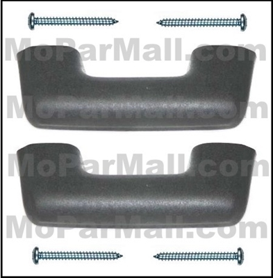 Armrests with screws for 1965-67 Dodge D100/200/300/400 and W100/200/300