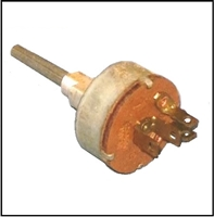 Heater/defroster blower switch for 1962-63 Plymouth Belvedere - Fury - Savoy - Sport Fury; 1962 Dodge Dart and 1962-63 Polara - 330 - 440 with Model 720/727 heater