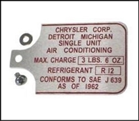 A/C Compressor Tag for 1970-1972 Barracuda - Challenger