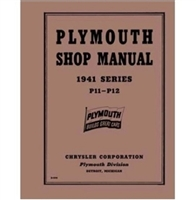 Factory Shop - Service Manual for 1941 Plymouth