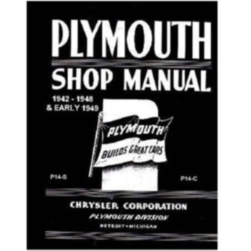 factory shop service manual for 1942 1948 plymouth rh moparmall com 1951 Plymouth 1951 Plymouth