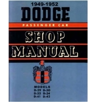 Factory Shop - Service Manual for 1949-1952 Dodge Passenger Cars