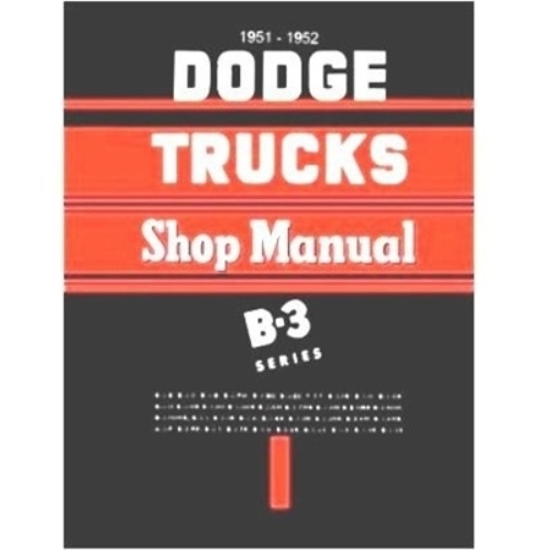 Shop service manual for 1951 1952 dodge truck factory shop service manual for 1951 1952 dodge truck publicscrutiny Gallery