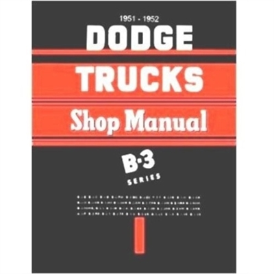 Factory Shop - Service Manual for 1951-1952 Dodge Truck