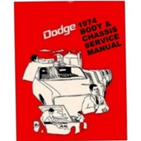 Combined body and chassis factory shop manuals for all models of 1974 Dodge Dart - Challenger - Coronet - Charger - Monaco - Sport