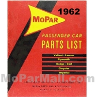 Illustrated MoPar Parts Manual for 1962 Plymouth - Dodge - Chrysler - Imperial