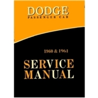 Factory Shop - Service Manual for 1960-1961 Dodge Lancer - Dart - Polara