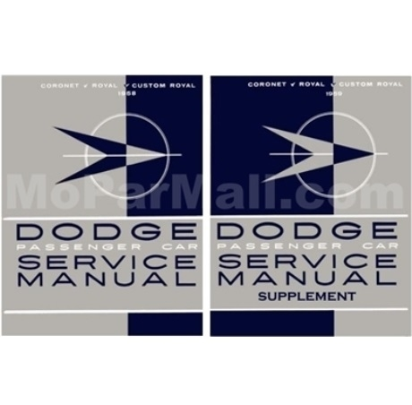 factory shop service manual set for 1958 1959 dodge passenger cars rh moparmall com 1959 Plymouth 1959 Plymouth