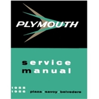 Factory Shop - Service Manual Set for 1955-1956 Plymouth