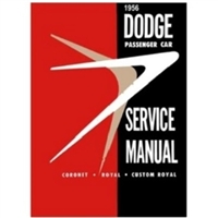 Factory Shop - Service Manual for 1956 Dodge Passenger Cars