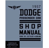 New Chrysler Corp. authorized reprint of the original factory shop manual for 1937 Dodge D5