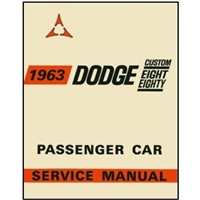 Factory Shop - Service Manual for 1963 Dodge 880