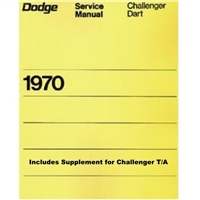 New Chrysler Corp. authorized reprint of the original factory shop manual covering all 1970 Dodge A-Body and E-Body