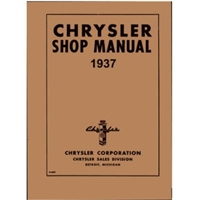 Factory Shop - Service Manual for 1937 Chrysler