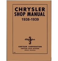 Factory Shop - Service Manual for 1938-1939 Chrysler