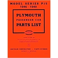 Illustrated Factory Parts Manual for 1946-1949 Plymouth P-15