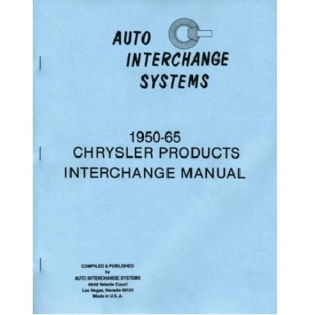 wrecking yard interchange guide for 1950 1965 plymouth dodge desoto chrysler imperial Ford Wiring Schematics