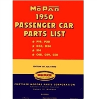 Illustrated Mopar Factory Parts Manual for 1950 Plymouth - Dodge - DeSoto - Chrysler