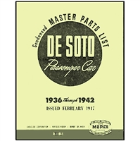 Factory Parts Manual for 1936-1942 DeSoto