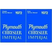 Factory Body/Chassis Shop - Service Manual Set for 1972 Plymouth - Chrysler - Imperial