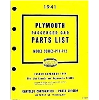 Illustrated Factory Parts Manual for 1941 Plymouth