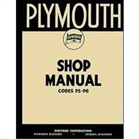 Factory Shop - Service Manual for 1938 Plymouth