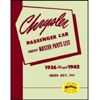 Illustrated MoPar Parts Manual for 1936-1942 Chrysler
