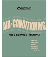 Factory Air Conditioning Shop - Service Manual for 1965 Plymouth - Dodge - Chrysler - Imperial