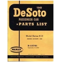Chrysler Corp. authorized reprint of the original factory parts manual for all 1949 DeSoto S-13