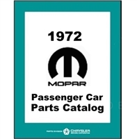 Illustrated MoPar Parts Manual for 1972 Plymouth - Dodge - Chrysler - Imperial