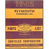 Illustrated Factory Parts Manual for 1942 Plymouth