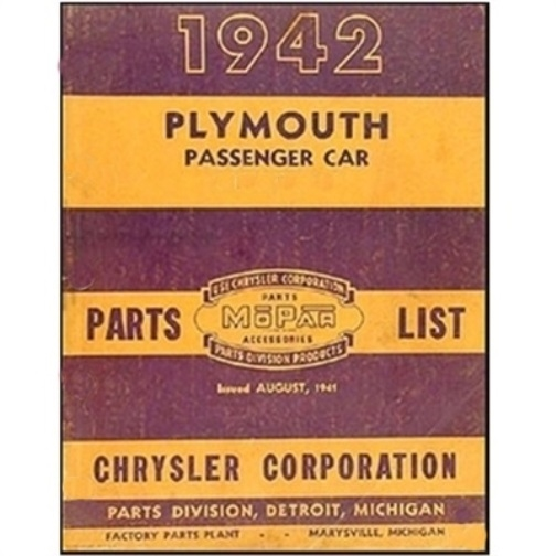 Super Illustrated Factory Parts Manual For 1942 Plymouth Wiring Cloud Hisonuggs Outletorg