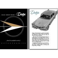 Factory Owner's Manual for 1957 Dodge Passenger Cars