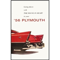 Chrysler Corp authorized reprint of the original factory glovebox owner/operator manual for 1956 Plymouth Belvedere - Fury - Plaza - Savoy - Sport Fury - Suburban
