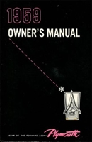 Owner/operator manual for 1959 Plymouth Belvedere - Fury - Plaza - Savoy - Sport Fury - Suburban