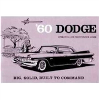 Factory Owner's Manual for 1960 Dodge Matador - Polara
