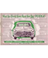 Factory Owner's Manual for 1950 Dodge Passenger Cars
