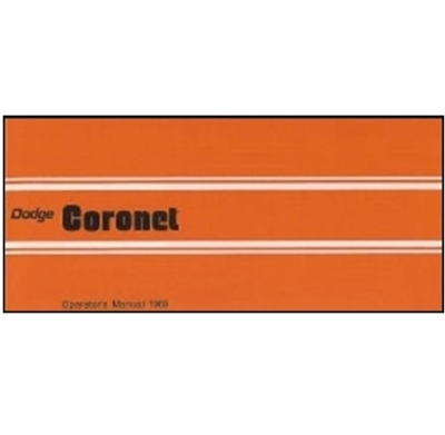 Factory Owner's Manual for 1969 Dodge Coronet