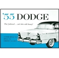 New reprint of the original factory owner/operator guide for all 1955 Dodge Coronet - Custom Royal - Royal - Sierra