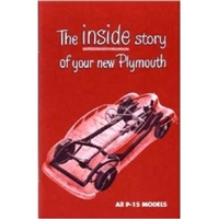 New Chrysler Corp. authorized reprint of the original factory owner/operator manual supplied in the glove box of all Plymouth P15