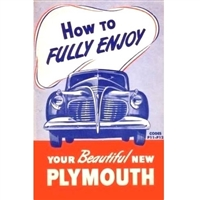 Factory Owner's Manual  for 1941 Plymouth