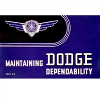 New Chrysler Corp. authorized reprint of the original factory owner/operator's manual for all 1938 Dodge D8